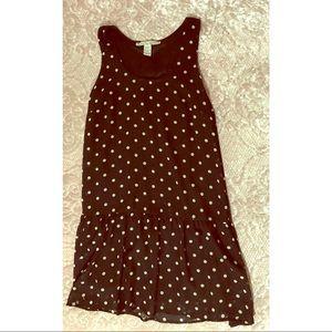 American rag polkadot drop waist line dress